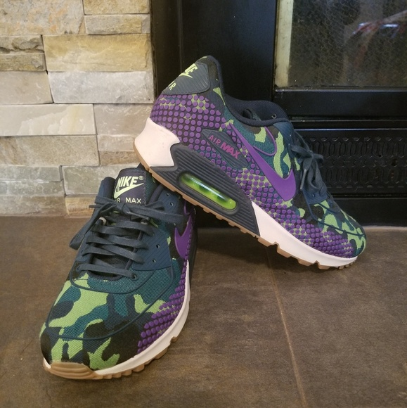 d9938efd2f Nike Shoes | Army Fatigue And Purple Airmax | Poshmark